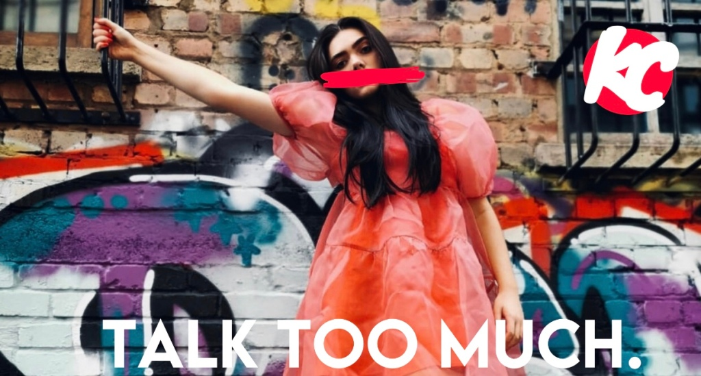 This image shows the artwork for KC's Talk Too Much